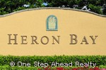Heron Bay community sign